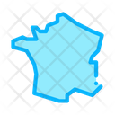 France Map Country Icon