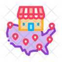 Franchise Country Location Icon