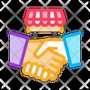 Franchise Handshake Wideworld Icon