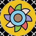 Frangipani Plumeria Flower Icon