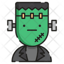 Frankenstein Spooky Face Icon