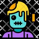 Frankestein Scary Zombie Icon