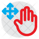 Free Drag Finger Hand Icon