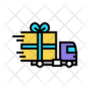 Free Gift Shipping Gift Truck Icon