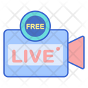 Free Live Stream Live Video Video Streaming Icon