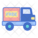 Free Shipping Free Delivery Delilvery Truck Icon