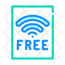Free Wifi Plate Icon