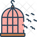 Freedom Birds Outside Of Cage Icon