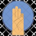 Raise A Finger Claim Lift Icon