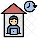 Freelance Working Stay At Home Icon