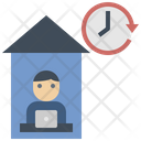 Stay At Home Freelance Working Icon