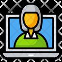 Laptop Work Freelancer Virtual Business Icon