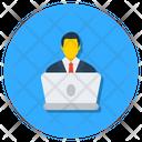 Online Webinar Online Person Computer User Icon
