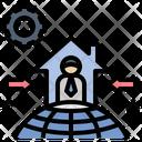 Nontraditional Freelance Businessman Icon