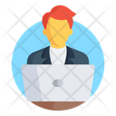 Freelancer Employee Internet User Icon
