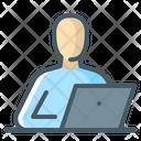 User Computer Freelancer Icon