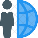 Global Worker Freelancer Icon