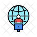 Freelancer Working World Icon