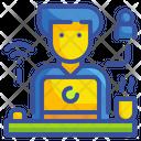 Freelancer Work Laptop Icon