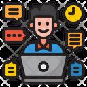 Freelancer Man Work Icon