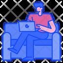 Freelancer Web Developer Freelancing Work Icon