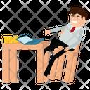 Freelancer Working Office Icon