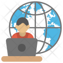 Online Computing Cloud Icon