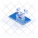 Freelancer Isometric Icon