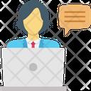 Freelancer Work Employee Services Icon