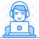 Freelancing Online Employees Internet User Icon