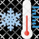 Freezing Temperature Snow Icon