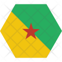 French Guiana Country Icon