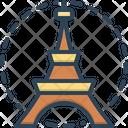 French Eiffel Tower Icon