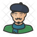 French Beret Asian Male French Beret Icon