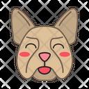 French Bulldog Dog Smiling Icon