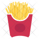 French Fried Finger Chips Fries Icon