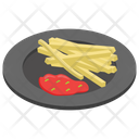 French Fries Potato Fries Fries With Ketchup Icon