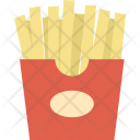 French Fries Junk Fast Icon