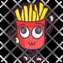 French Fries Potato Fries Cinema Snacks Icon