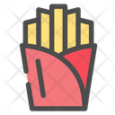 French Fries Fast Food Fries Icon