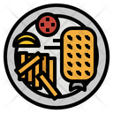 French Fries Fish Icon