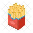 Fires Potatoes Fastfood Icon