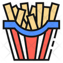 French Fries United States America Icon
