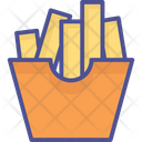 French Fries Chips Finger Chips Icon