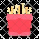 French Fries Potato Chips Potato Fries Icon