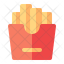 French Fries Fast Food Snack Icon