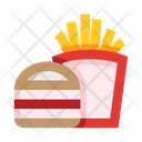 French Fries Burger Nutrition Icon