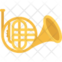 French Horn Trumpet Musical Instrument Icon