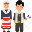 French Outfit French Clothing French Dress Icon