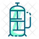 French Press Coffee Maker Icon